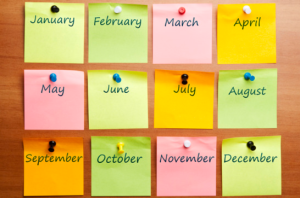 This is a very simplified Marketing Calendar. Better than nothing!